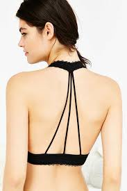 halter neck strappy back lace halter neck bra outfitters