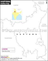 haryana outline map blank map of haryana