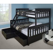 bunk beds wood full size loft bed top bunk with desk underneath