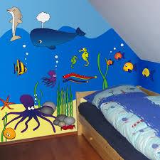 wandtattoos für kinderzimmer wandtattoos unterwasserwelt fische krake wallprint