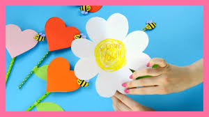 heart flower craft lovely mother u0027s day craft for kids youtube