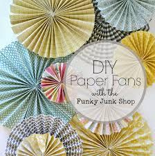 paper fans diy funky junk diy paper fans