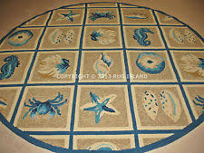 Round Tropical Area Rugs Round Outdoor Rug Ebay