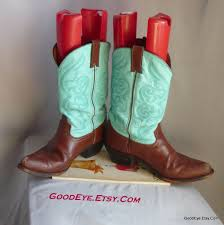 cowboy boots uk leather fancy two tone boots size 9 5 m eu 41 uk 7