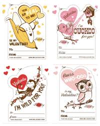 pleasing bird valentines free day class card printables then