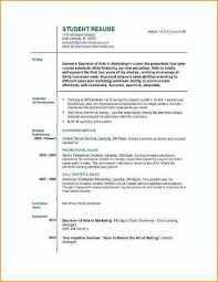 Create A Resume For Job by 13 How To Make A Student Resume For Job Basic Job Appication Letter