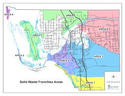 Fort Myers Florida Map by Solid Waste Franchise Area Map