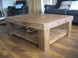 rustic oak coffee table chunky 4 leg coffee table with shelf rustic oak