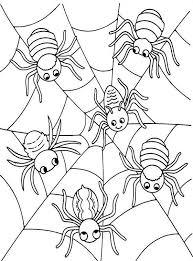 halloween spiders coloring pages halloween spiders halloween