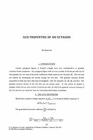 gcd properties of an octagon springer