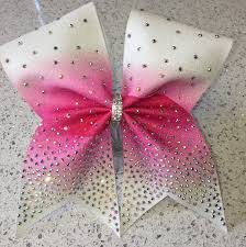 cheap hair bows rhinestone sublimated cheer bow green ans teal bow