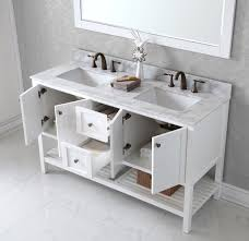 Traditional Bathroom Vanities And Cabinets Virtu Usa Winterfell 60 Bathroom Vanity Cabinet In White