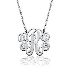 monogram sterling silver necklace 74 best my monogram jewelry images on monogram jewelry