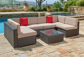 furniture wicker patio furniture with decoration in wicker patio