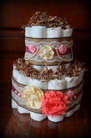 Shabby Chic Baby Shower Cakes by Shabby Chic Diaper Cake In Progress Shabby Chic Vintage Diaper
