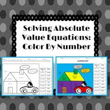 solving absolute value equations color by number by 4 the love of
