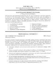 maintenance man resume resume for maintenance best template collection