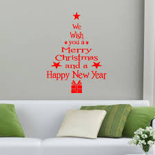 removable merry christmas tree wall window sticker home party