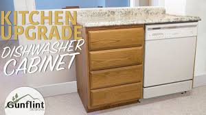 how to install base cabinets with dishwasher a kitchen dishwasher cabinet