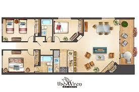 3bed 2bath Floor Plans The Wren At Vail Vail Village 3 Bedroom 2 Bath