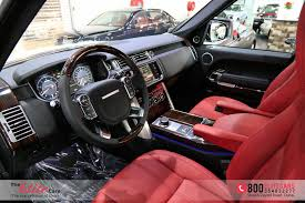 land rover autobiography red interior range rover vogue se 0 km black edition red interior rear dvd