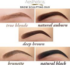 amazon com aesthetica brow sculpting duo double ended eyebrow