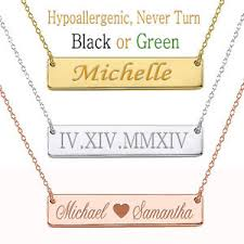 necklace with names engraved personalized name bar necklace custom engraved any name necklace