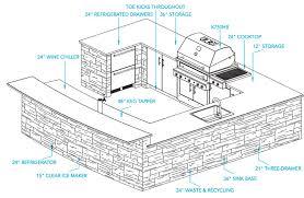 outdoor kitchen plans lightandwiregallery com
