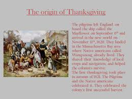 thanksgiving the origin of thanksgiving the pilgrims left