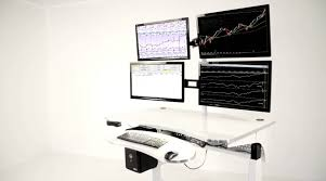 Computer Desk Dual Monitor Build Your Own Multiple Monitor Stock Market Trading Station At