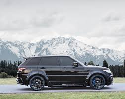 land rover evoque black modified mansory tweaks the big range rover sport