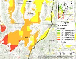Counties In Utah Map by Resource Profile Solar Energy In Utah Office Of Energyoffice Of
