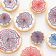 red white and blue royal icing