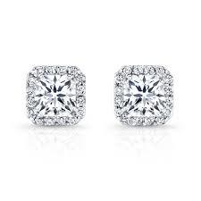 white gold diamond stud earrings 18k white gold diamond halo stud earrings fm26952