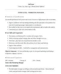 entry level sales resume entry level marketing resume exles foodcity me