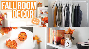 how to decorate your room for fall diy decor youtube