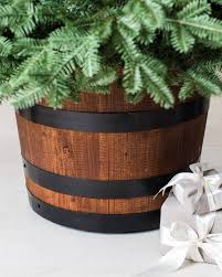 wine barrel artificial tree stand balsam hill