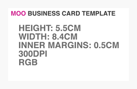 downloadable template for creating moo business cards