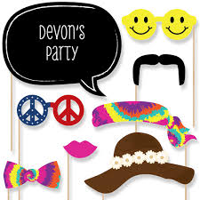 printable hippie photo booth props 60 s hippie 20 piece photo booth props kit bigdotofhappiness com