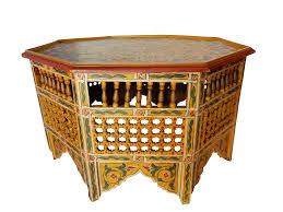 moroccan 8 sided coffee table chairish