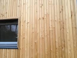 parement bois mural bardage mélèze de sibérie 26x130mm utile faux claire voie