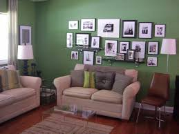 ideas for decorating walls in living room long painting green wall