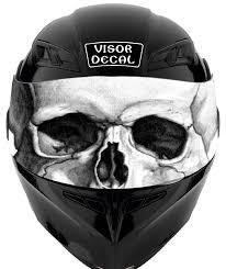 American Flag Visor Amazon Com V25 Skull Visor Tint Decal Graphic Sticker Helmet Fits