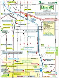 map of penn station baltimore railfan guide central baltimore map
