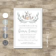 baby fox baby shower invitation baby shower invite couples baby