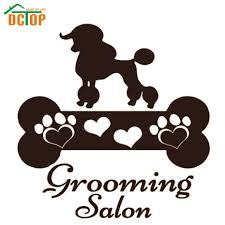 online buy wholesale pet wall decals from china pet wall decals grooming salon dog and bone wall sticker diy removable vinyl home decor hollow out for living