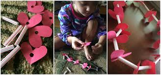 diy valentine u0027s day heart necklace livin u0027 the mommy life