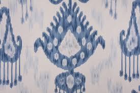 Robert Allen Drapery Fabric Robert Allen Khandar Ikat Type Print Drapery Fabric In Indigo