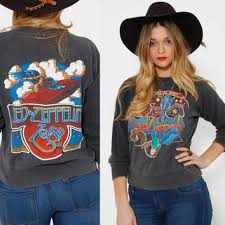 led zeppelin sweater vintage 70s led zeppelin sweatshirt black from lotus vintage
