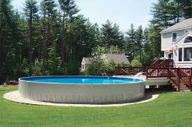 33 u0027 aboveground radiant metric round pool with deck incredible